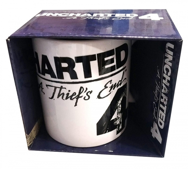 Caneca UNCHARTED Nathan Drake White Background
