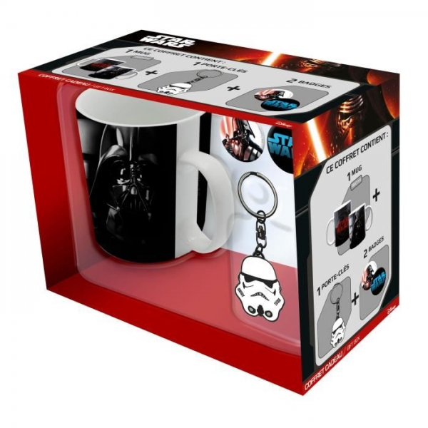 Caneca STAR WARS Darh Vader 460ml (Porta-chaves Trooper e 2 Pins)