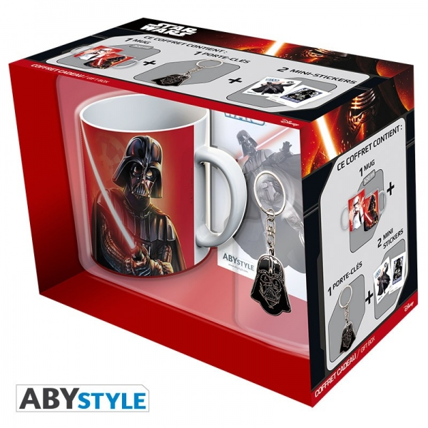 Caneca STAR WARS Darth Vader Pack 320ml (Porta-chaves e Autocolantes)