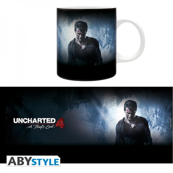 Caneca UNCHARTED Logo & Nathan Drake (320ml)