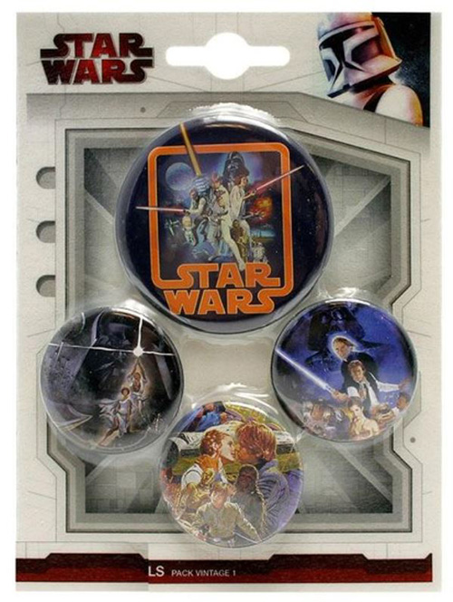 Pins STAR WARS Vintage Badges (4 Pins)