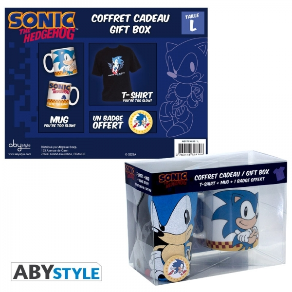 Caneca SEGA Sonic The Hedgehog Gift Box (T-shirt M e Pin)