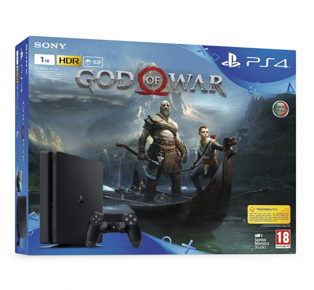 CONSOLA PS4 Slim 1TB Bundle God of War