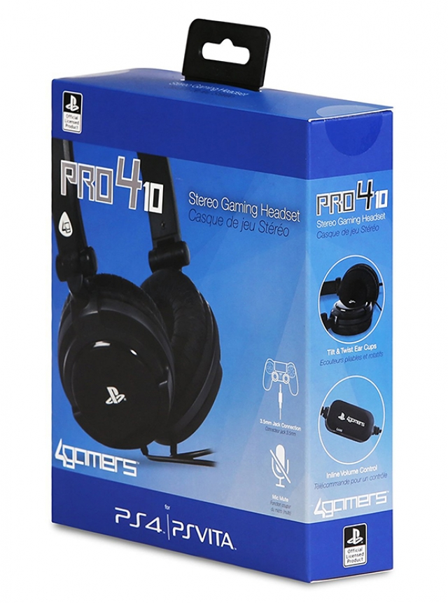 AUSCULTADORES GAMING Oficiais 4GAMERS PRO4-10 PS4