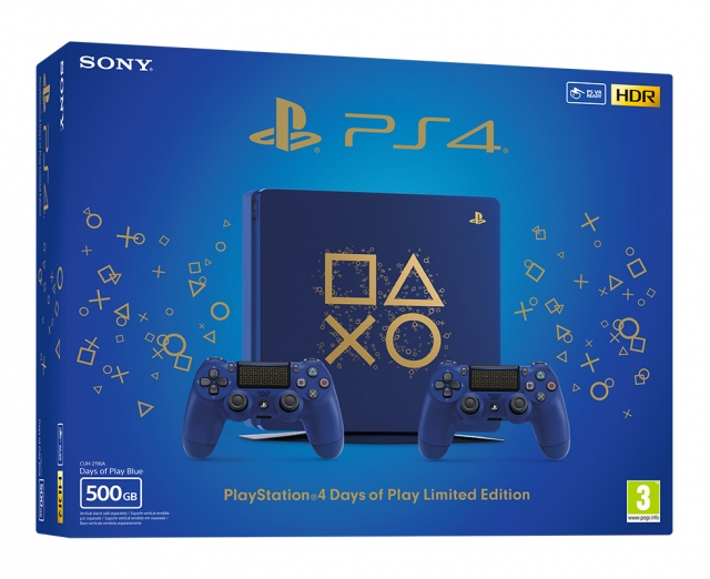 CONSOLA PS4 Slim 500GB (+2 Comandos) Edição Limitada Days of Play