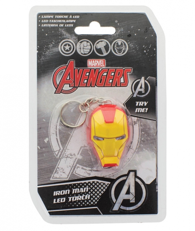 Porta-Chaves MARVEL Iron Man LED Torch (Com Luz)
