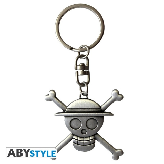 Porta-Chaves ONE PIECE Skull Lufy 3D Metal