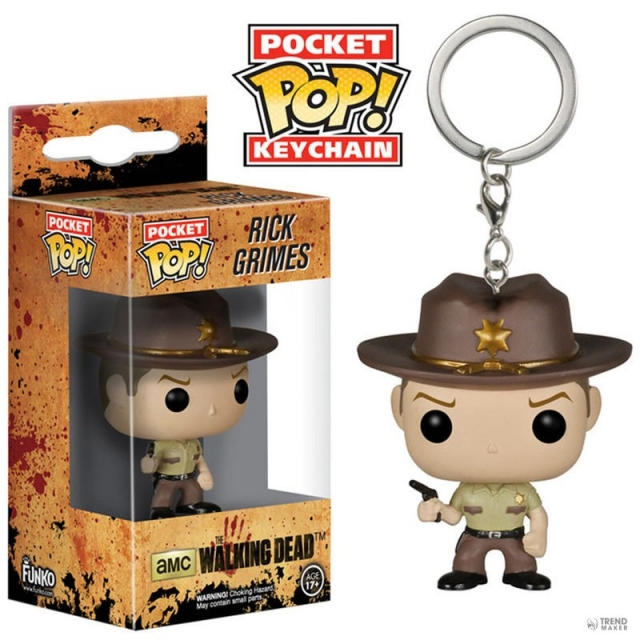 Porta-Chaves THE WALKING DEAD Pocket POP! Rick Grimes