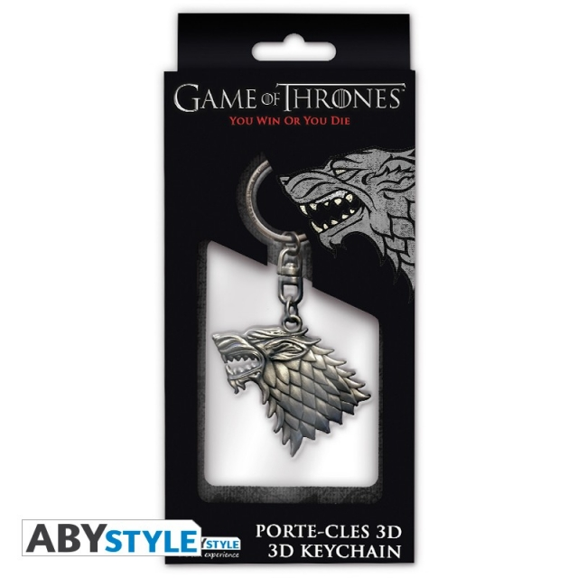 Porta-Chaves GAME OF THRONES Stark 3D Metal