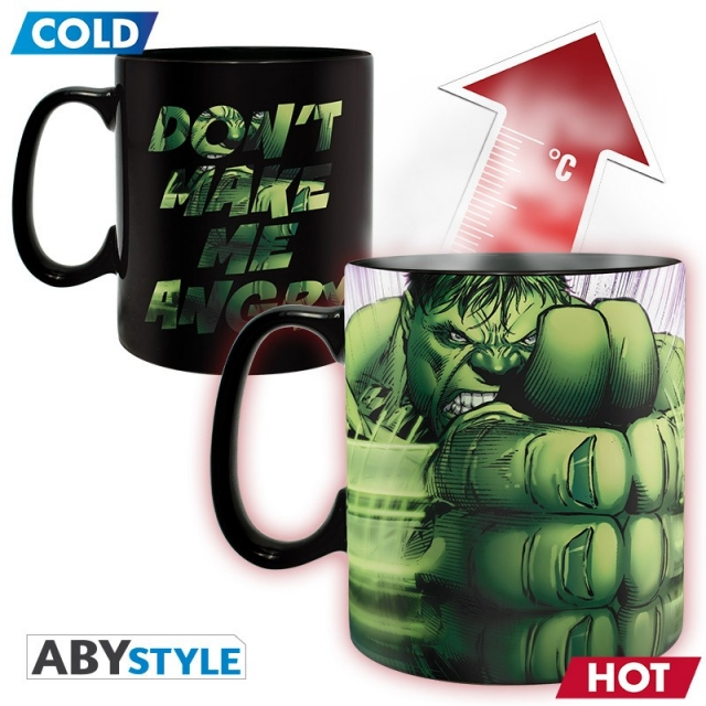 Caneca MARVEL Hulk Smash (460ml) Altera com a Temperatura