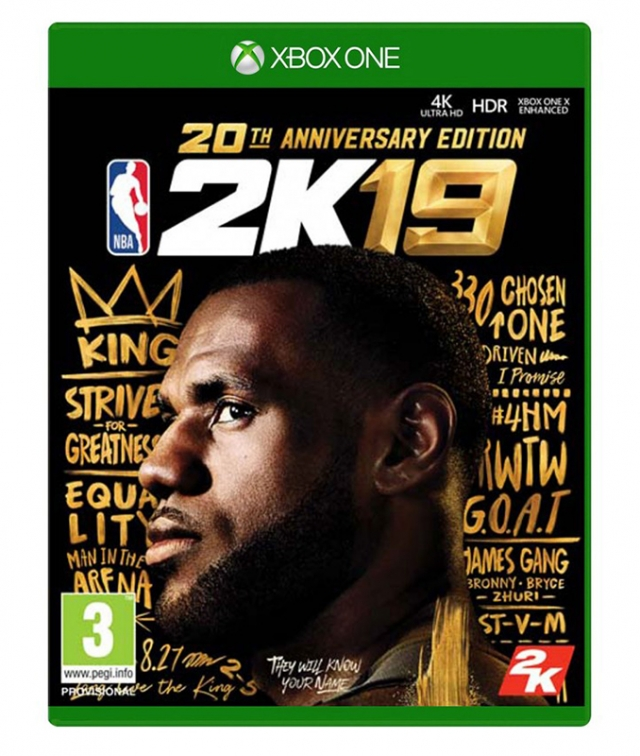 NBA 2K19 20th Anniversary Edition XBOX ONE