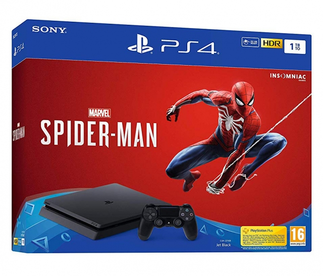 CONSOLA PS4 Slim 1TB Bundle SPIDER-MAN (5 Anos Garantia)
