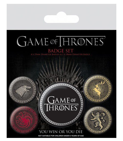 Pins GAME OF THRONES Great Houses Badge Pack (5 pins)