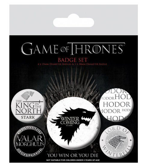 Pins GAME OF THRONES Winter is Coming Badge Pack (5 pins)