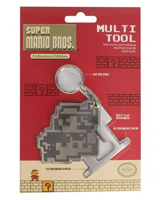 Porta-Chaves NINTENDO Super Marios Bros. Multi-Tool Metal