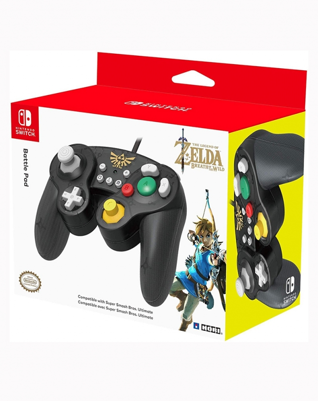 COMANDO Oficial HORI Battle Pad Zelda Com Fios Switch