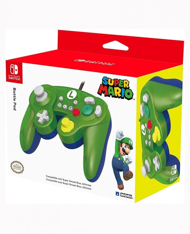 COMANDO Oficial HORI Battle Pad Luigi Com Fios Switch
