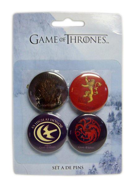 Pins GAME OF THRONES Set A (4 Pins)