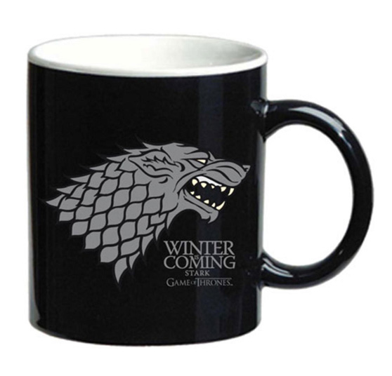Caneca GAME OF THRONES Winter is Coming Stark Black