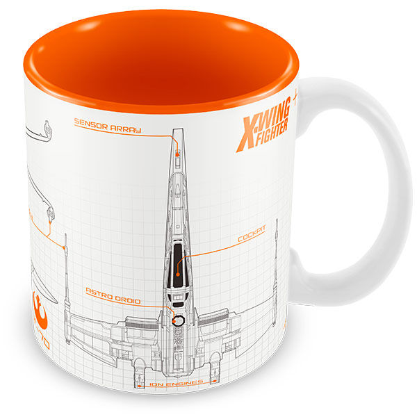 Caneca STAR WARS X-Wing Blueprint