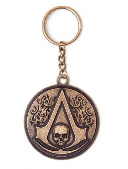 Porta-Chaves ASSASSINS CREED Round Crest & Skull Metal