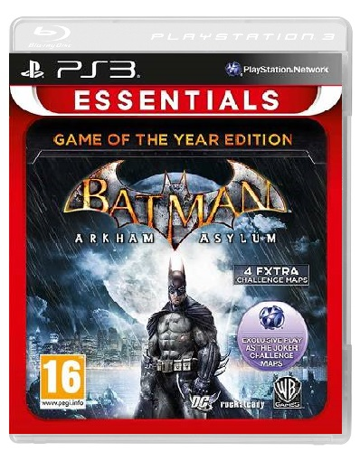 BATMAN ARKHAM ASYLUM Game of The Year Edition Essentials PS3