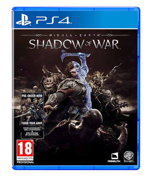 MIDDLE EARTH SHADOW OF WAR (Oferta Steelbook e DLC) PS4
