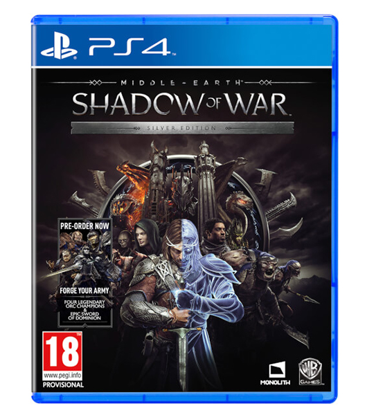 MIDDLE EARTH SHADOW OF WAR Silver Edition PS4