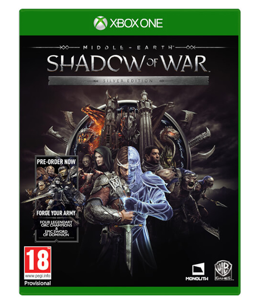 MIDDLE EARTH SHADOW OF WAR Silver Edition XBOX ONE
