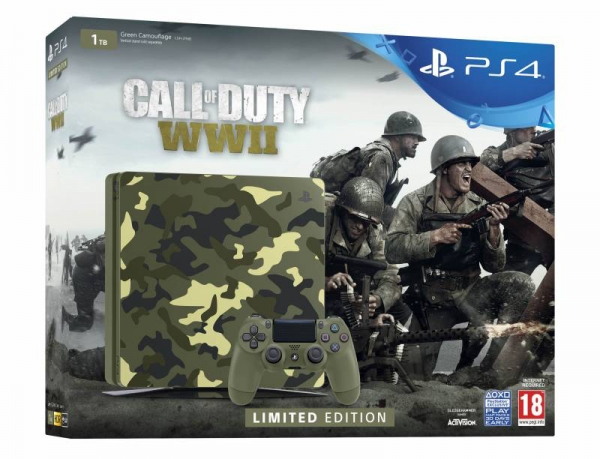 PS4 CONSOLA SONY PLAYSTATION 4 1TB Edição Especial CALL OF DUTY WWII