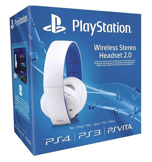 AUSCULTADORES GAMING SONY WIRELESS GOLD HEADSET 2.0 Brancos