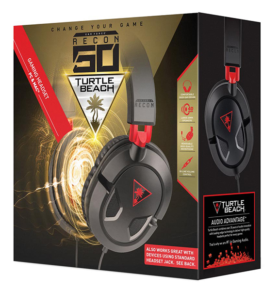 AUSCULTADORES GAMING TURTLE BEACH Ear Force RECON 50